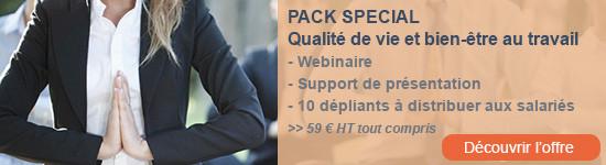 Pack spécial qualité de vie et bien-être au travail