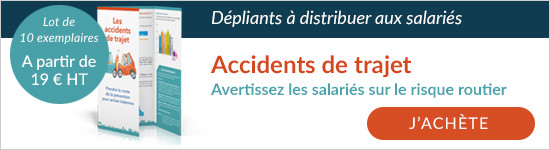 Découvrez les dépliants pour communiquer sur les accidents de trajet  à distribuer aux salariés